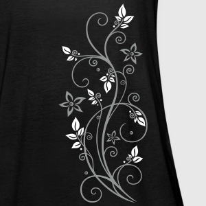 Filigree tendril with leaves and flowers.  Tops - Women's Tank Top by Bella
