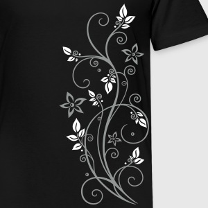 Filigree tendril with leaves and flowers.  Shirts - Kids' Premium T-Shirt