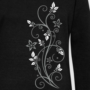Filigree tendril with leaves and flowers.  Hoodies & Sweatshirts - Women's Boat Neck Long Sleeve Top