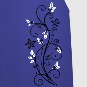 Filigree tendril with leaves and flowers.   Aprons - Cooking Apron
