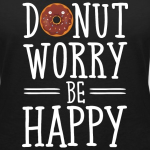 Donut Worry Be Happy Tee shirts - T-shirt bio col en V Stanley & Stella Femme