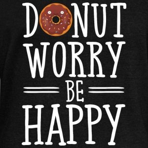 Donut Worry Be Happy Felpe - Felpa con scollo a barca da donna, marca Bella