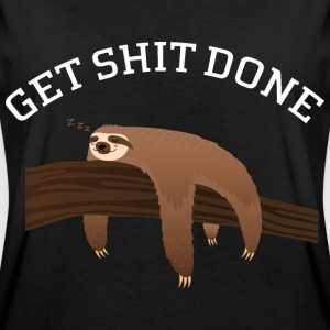 Get Shit Done - Lazy Sloth T-shirts - Dame oversize T-shirt