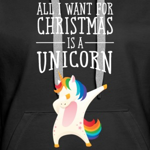 All I Want For Christmas Is A Unicorn Sweatshirts - Dame Premium hættetrøje