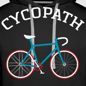 Cycopath - Cool Gift Design For A Cyclist Sweat-shirts - Sweat-shirt à capuche Premium pour hommes