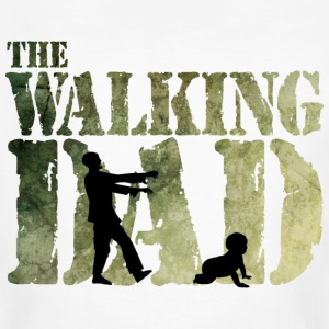 The walking Dad - Zombie - Papa -Humor-Baby-Vater T-shirts - Organic mænd