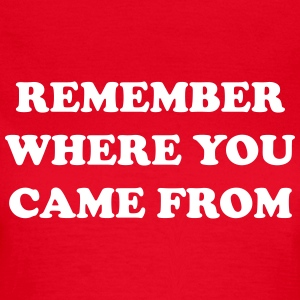 Remember where you came from T-Shirts - Women's T-Shirt