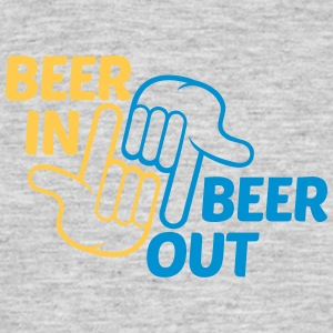 design spruch party hands show gloves beer in out  T-Shirts - Men's T-Shirt