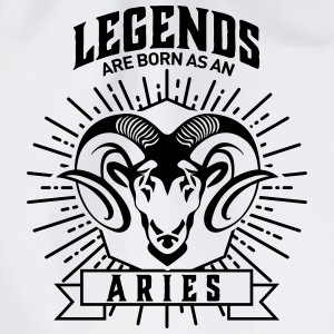 legends are born as an Aries Widder Sternzeichen Bags & Backpacks - Drawstring Bag