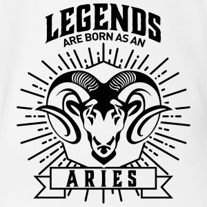 legends are born as an Aries Widder Sternzeichen Body neonato - Body ecologico per neonato a manica corta