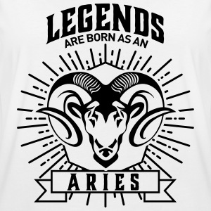 legends are born as an Aries Widder Sternzeichen T-shirts - Oversize-T-shirt dam