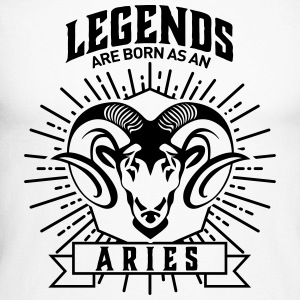 legends are born as an Aries Widder Sternzeichen Langarmshirts - Männer Baseballshirt langarm