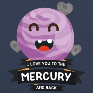Love you to the Mercury Planet Character Gift Sports wear - Men's Premium Tank Top