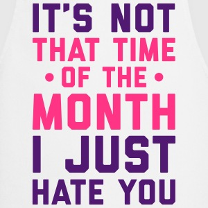 Time Of The Month Funny Quote  Aprons - Cooking Apron