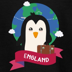 Penguin Globetrotter from England Gift T-Shirts - Teenager T-Shirt