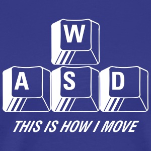 T-shirt Premium, WASD This is how I move - Premium-T-shirt herr