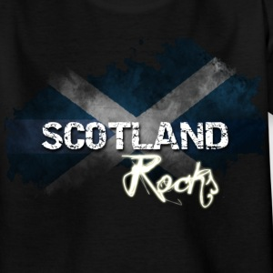 Grunge Saltire - Black - Teenage T-shirt