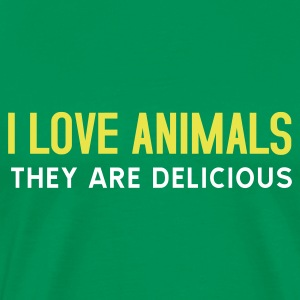 T-shirt, I love animals - Premium-T-shirt herr