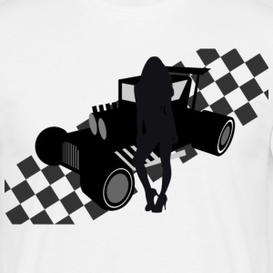 hot rod car  - Männer T-Shirt
