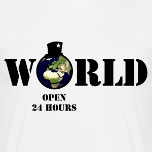 world open 24 hours  - Männer T-Shirt