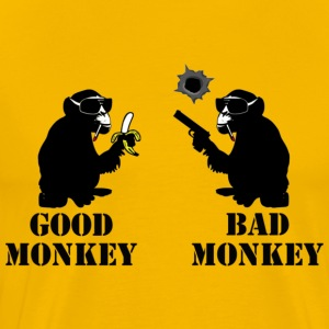 good monkey bad monkey  - Männer Premium T-Shirt