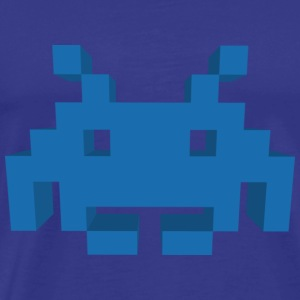 Retro 3D Space Invader - Men's Premium T-Shirt