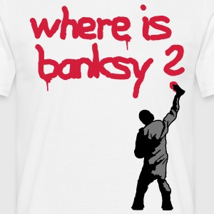 where is banksy - Men's T-Shirt