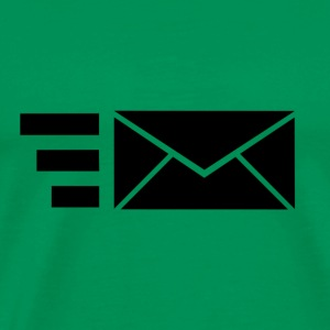 Black Icoon envelop - send items - Mannen Premium T-shirt