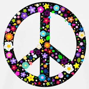 Flower Peace Sign T-Shirts - Men's Premium T-Shirt
