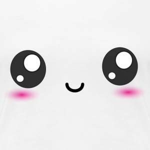 Kawaii Smiley Happy Face T-Shirts - Women's Premium T-Shirt