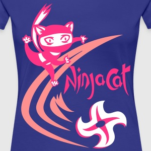 NinjaCat Star - Ladies T shirt mk1 - Women's Premium T-Shirt