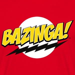 The Big Bang Theory Bazinga! Herre T-Shirt - Herre-T-shirt