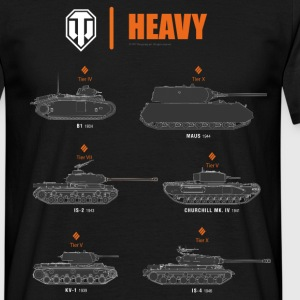 World of Tanks Heavy - Männer T-Shirt