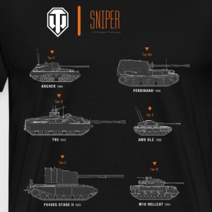 World of Tanks Sniper - Camiseta premium hombre