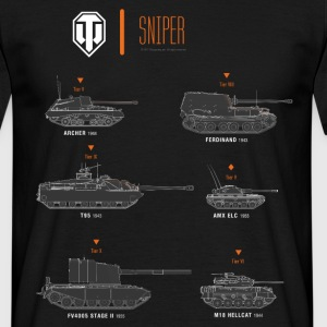 World of Tanks Sniper - T-shirt herr