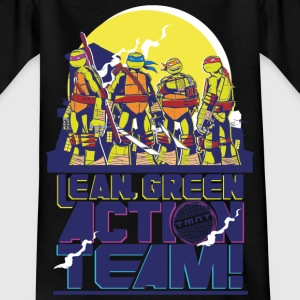 TMNT Turtles Lean Green Action Team - Maglietta per ragazzi