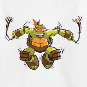 Tortues Ninja Michelangelo À L'Attaque - T-shirt Ado