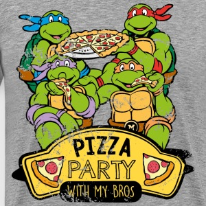 TMNT Turtles Pizza Party With My Bros - Herre premium T-shirt