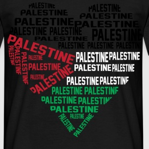 Love Palestine Black Mens - Men's T-Shirt