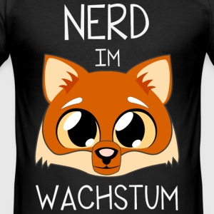 Fuchs-Nerd T-Shirts - Männer Slim Fit T-Shirt
