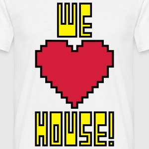 welovehousevector1 T-Shirts - Men's T-Shirt