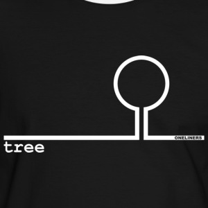 Oneliners: tree, white on black - Mannen contrastshirt