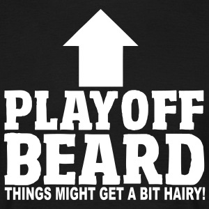 Playoff Beard T-Shirt Black - Herre-T-shirt