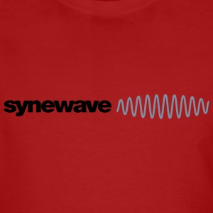 Synewave Red / Black with Silver - Men's Organic T-shirt