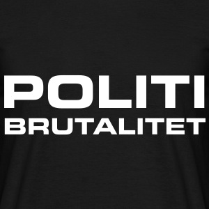 Politibrutalitet - T-skjorte for menn