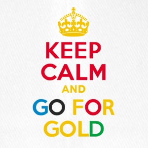 KEEP CALM and GO FOR GOLD hat - Flexfit Baseball Cap