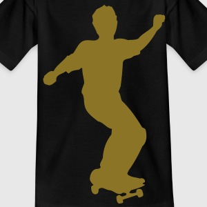 skateboard skate board x games sport skater Kids' Shirts - Teenage T-shirt