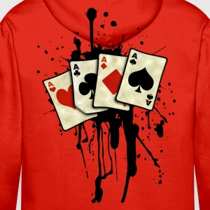 poker cards design Sweat-shirts - Sweat-shirt à capuche Premium pour hommes