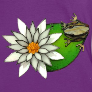 frog on a lilly pad - Women's Ringer T-Shirt