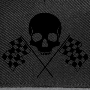 Skull Checkered Flags Bags  - Snapback Cap